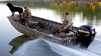 Hunters heading out to the marsh