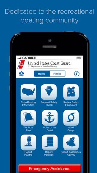 US Coast Guard Mobile App Homescreen